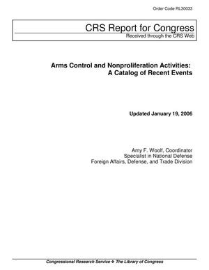 Primary view of object titled 'Arms Control and Nonproliferation Activities: A Catalog of Recent Events'.
