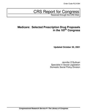 Primary view of object titled 'Medicare: Selected Prescription Drug Proposals in the 107th Congress'.