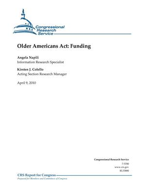 Primary view of object titled 'Older Americans Act: Funding'.