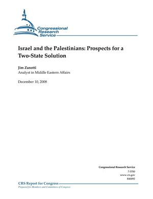 Primary view of object titled 'Israel and the Palestinians: Prospects for a Two-State Solution'.