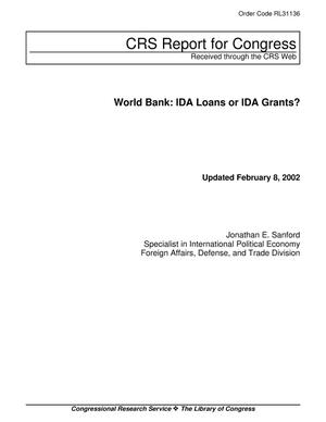 Primary view of object titled 'World Bank: IDA Loans or IDA Grants?'.