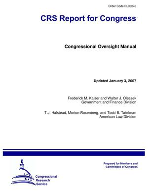 Primary view of object titled 'Congressional Oversight Manual'.