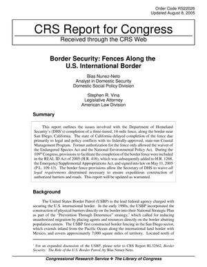 Primary view of object titled 'Border Security: Fences Along the U.S. International Border'.