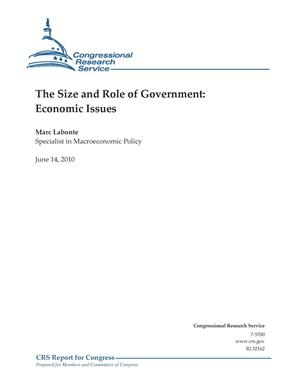 Primary view of object titled 'The Size and Role of Government: Economic Issues'.