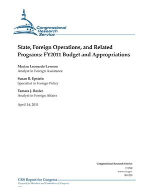 Primary view of object titled 'State, Foreign Operations, and Related Programs: FY2011 Budget and Appropriations'.