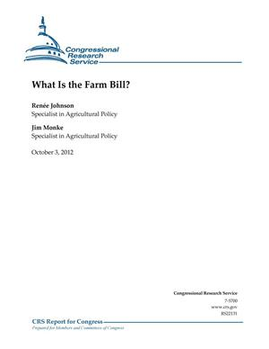 Primary view of object titled 'What Is the Farm Bill?'.