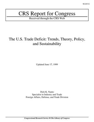 Primary view of object titled 'The U.S. Trade Deficit: Trends, Theory, Policy, and Sustainability'.