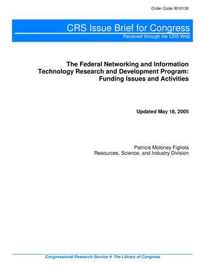 Primary view of object titled 'The Federal Networking and Information Technology Research and Development Program: Funding Issues and Activities'.