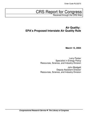 Primary view of object titled 'Air Quality: EPA's Proposed Interstate Air Quality Rule'.