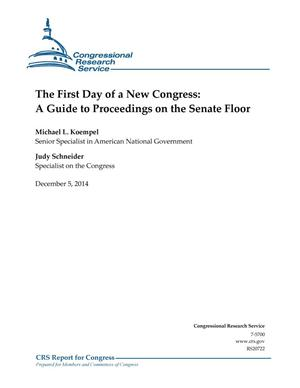 Primary view of object titled 'The First Day of a New Congress: A Guide to Proceedings on the Senate Floor'.