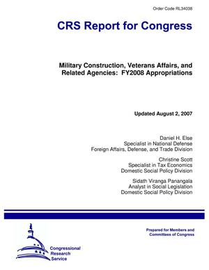 Primary view of object titled 'Military Construction, Veterans Affairs, and Related Agencies: FY2008 Appropriations'.