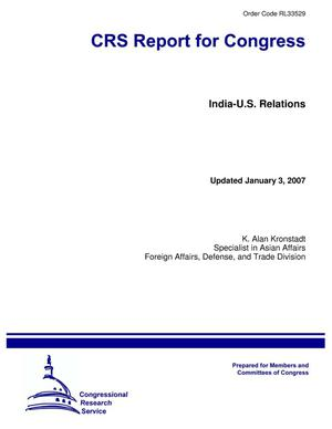 Primary view of object titled 'India-U.S. Relations'.