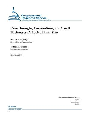 Primary view of object titled 'Pass-Throughs, Corporations, and Small Businesses: A Look at Firm Size'.