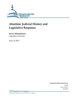 Primary view of object titled 'Abortion: Judicial History and Legislative Response'.