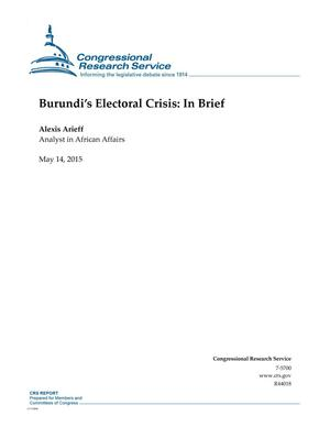 Primary view of object titled 'Burundi's Electoral Crisis: In Brief'.