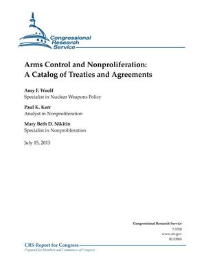 Primary view of object titled 'Arms Control and Nonproliferation: A Catalog of Treaties and Agreements'.