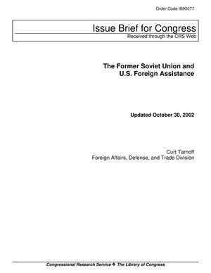 Primary view of object titled 'The Former Soviet Union and U.S. Foreign Assistance'.
