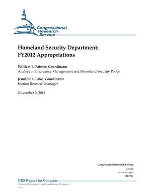 Primary view of object titled 'Homeland Security Department: FY2012 Appropriations'.