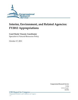 Primary view of object titled 'Interior, Environment, and Related Agencies: FY2012 Appropriations'.