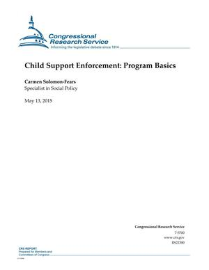 Primary view of object titled 'Child Support Enforcement: Program Basics'.
