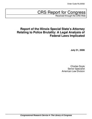 Primary view of object titled 'Report of the Illinois Special State's Attorney Relating to Police Brutality: A Legal Analysis of Federal Laws Implicated'.