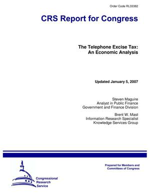 Primary view of object titled 'The Telephone Excise Tax: An Economic Analysis'.
