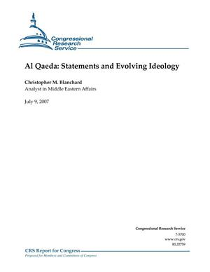 Primary view of object titled 'Al Qaeda: Statements and Evolving Ideology'.