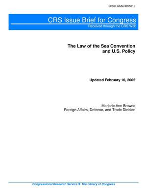 Primary view of object titled 'The Law of the Sea Convention and U.S. Policy'.
