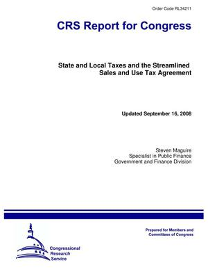 Primary view of object titled 'State and Local Taxes and the Streamlined Sales and Use Tax Agreement'.