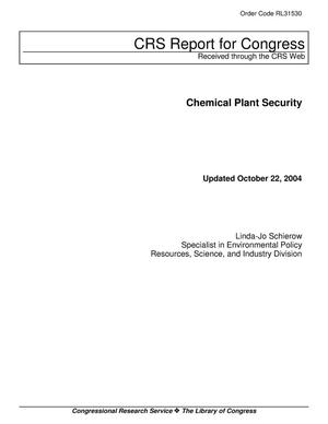 Primary view of object titled 'Chemical Plant Security'.