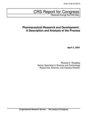 Primary view of object titled 'Pharmaceutical Research and Development and Analysis of the Process'.