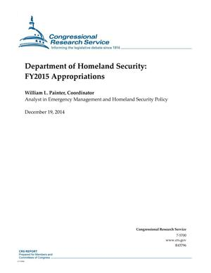 Primary view of object titled 'Department of Homeland Security: FY2015 Appropriations'.