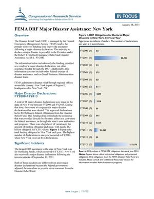 Primary view of object titled 'FEMA DRF Major Disaster Assistance: New York'.