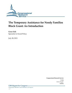 Primary view of object titled 'The Temporary Assistance for Needy Families Block Grant: An Introduction'.