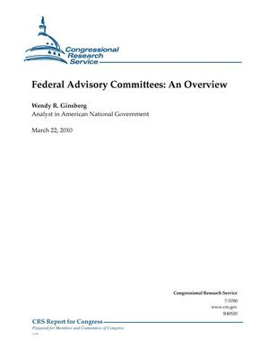 Primary view of object titled 'Federal Advisory Committees: An Overview'.
