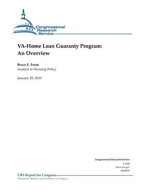 Primary view of object titled 'VA-Home Loan Guaranty Program: An Overview'.