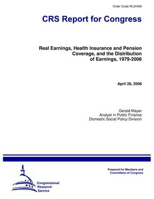 Primary view of object titled 'Real Earnings, Health Insurance and Pension Coverage, and the Distribution of Earnings, 1979-2006'.