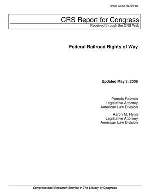 Primary view of object titled 'Federal Railroad Rights of Way'.