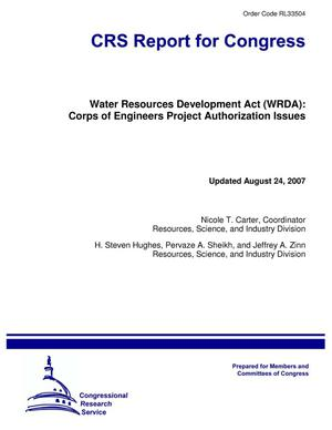 Primary view of object titled 'Water Resources Development Act (WRDA): Corps of Engineers Project Authorization Issues'.