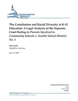 Primary view of object titled 'The Constitution and Racial Diversity in K-12 Education: A Legal Analysis of Pending Supreme Court Ruling in Parents Involved in Community Schools v. Seattle School District No. 1'.