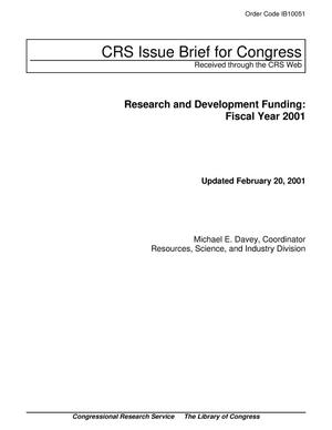 Primary view of object titled 'Research and Development Funding: Fiscal Year 2001'.
