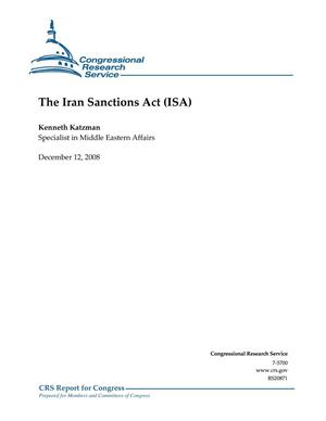 Primary view of object titled 'The Iran Sanctions Act (ISA)'.