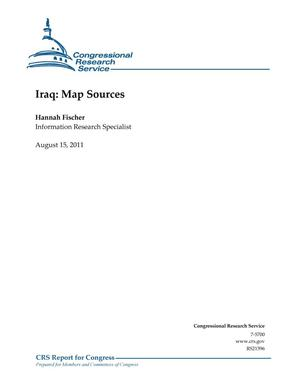 Primary view of object titled 'Iraq: Map Sources'.
