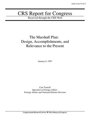 Primary view of object titled 'The Marshall Plan: Design, Accomplishments, and Relevance to the Present'.