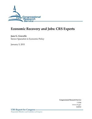 Primary view of object titled 'Economic Recovery and Jobs: CRS Experts'.