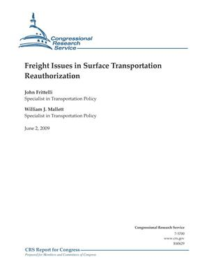 Primary view of object titled 'Freight Issues in Surface Transportation Reauthorization'.