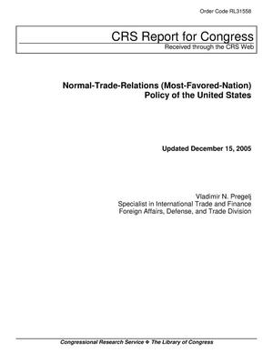 Primary view of object titled 'Normal-Trade-Relations (Most-Favored-Nation) Policy of the United States'.