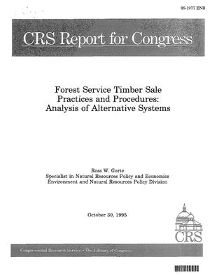 Primary view of object titled 'Forest Service Timber Sale Practices and Procedures: Analysis of Alternative Systems'.