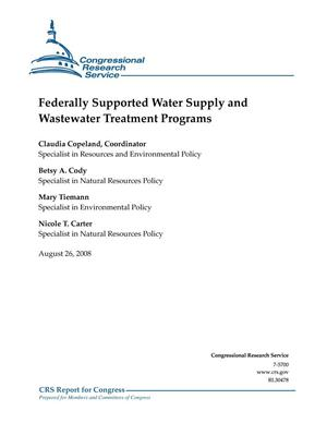 Primary view of object titled 'Federally Supported Water Supply and Wastewater Treatment Programs'.