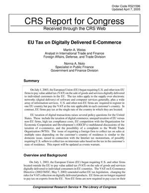 Primary view of object titled 'EU Tax on Digitally Delivered E-Commerce'.